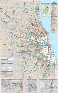 Chicago Metra Train Map by Cta Metra And Pace Maplets