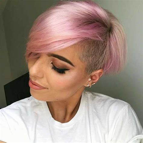 haircuts for colored pink hair totally adorable pink colored short hairstyles we love