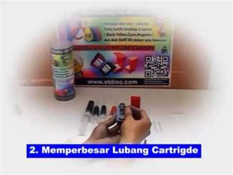 Tinta Pg 810xl cara refill cartridge canon pg 810 mp3 mp4