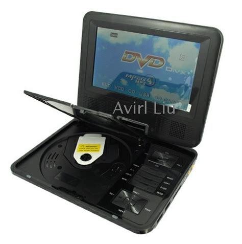 free shipping 7 5 quot swivel portable mp3 mp4 usb tv dvd