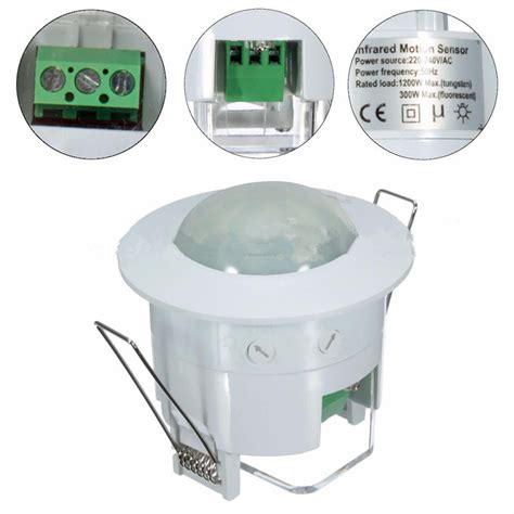motion sensor recessed light pir motion sensor detector home office 360 degree recessed