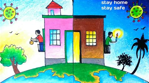 stay home stay safe drawingcoronavirus drawing youtube