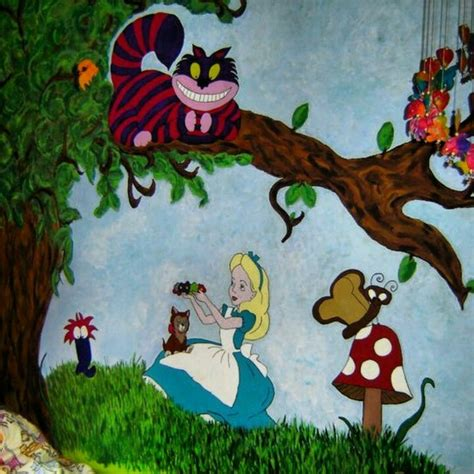Alice In Wonderland Wall Murals alice in wonderland mural for the home pinterest