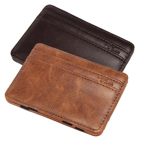 Murah Card Id Holder Credit Card Holder 2017 New Mini Magic Wallet Bifold Leather Wallet Id Credit