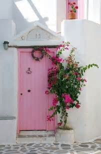Pink Front Door Pink Door Greece Doors