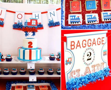 train themed birthday party ideas kara s party ideas thomas train boy cake 2nd birthday