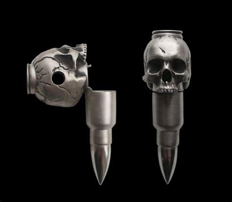 Sterling Silver Skull Bullet Poison Pendant Creepbay Skull With Bullet