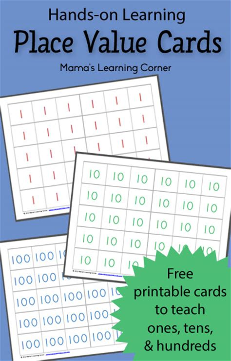 number place value cards printable how to homeschool for free and frugal math for all ages