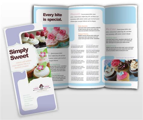 bakery brochure template pin event brochure cake flavors cupcakes 2 remember cake