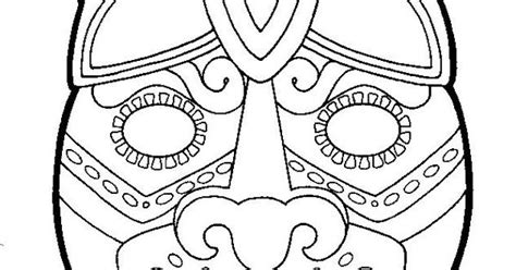 printable aztec mask masks of mexico to color temple of the jaguar at the