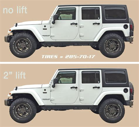 Jeep Lifts Before And After M Schultz Jeep Wrangler 2016 Before And After 2 Inch