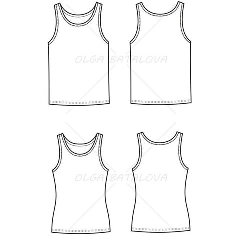 templates for photoshop mens clothing women s and men s tank top fashion flat template