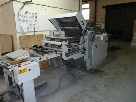 Stahl Paper Folding Machine - folders used finishing machines heidelberg stahl ti 52 4 k