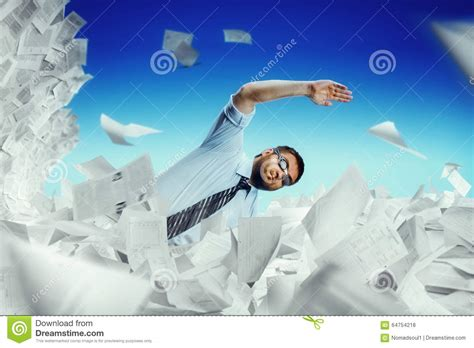 Swimming Essays by Swimming In Papers Stock Photo Image Of Clouds Mess 64754218