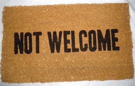 Not Welcome Mat 25 hilariously unwelcoming doormats babble