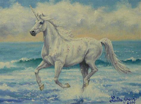 Unicorn Summer summer unicorn painting by louise green