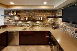 backsplash ideas kitchen traditional with blue wall