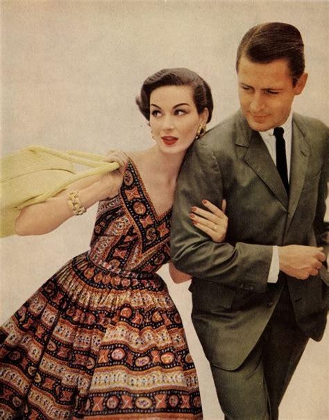 1950s fashion men and women 1950s couple dress fashion husband vintage image