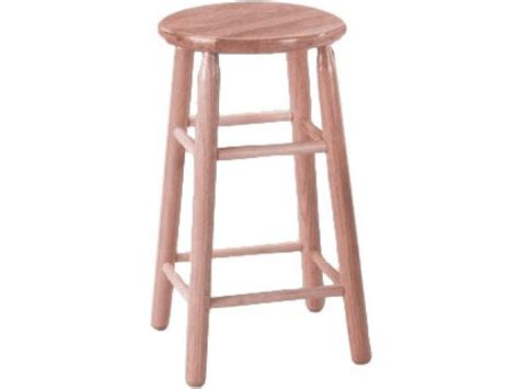 Unfinished Wooden Stools by Troutman Solid Wood Lab Stool Unfinished Trs 24u Stools