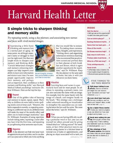 letter for college magazine harvard health letter harvard health