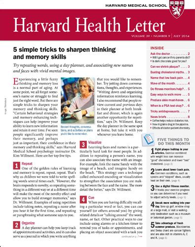 Harvard Health Letter   Harvard Health