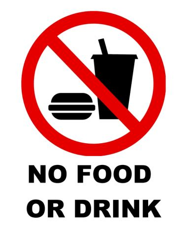 No Food Or Drink Signs Printable no food or drink sign printable clipart best