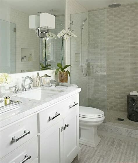 Small Bathroom Ideas With Walk In Shower Small Bathroom Design Ideas White Vanity Walk In Shower Glass Partition The Smallest Bathroom
