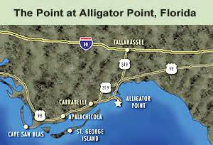 alligator point florida map florida gulf coast house vacation rental the point