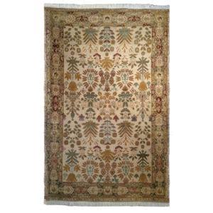 tufenkian transitional gold black green wool rug 5056