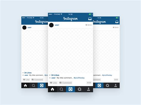 instagram templates for photoshop instagram template mobile mockup freebie download