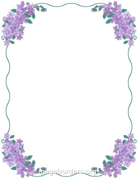 Wedding Borders For Microsoft Publisher by Printable Lilac Border Use The Border In Microsoft Word