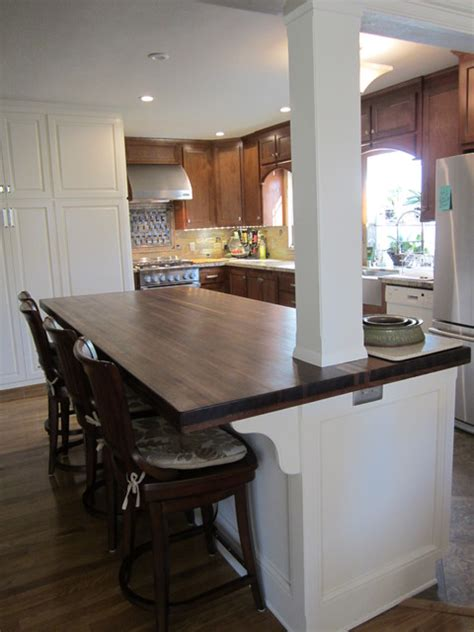 walnut island counter tops traditional kitchen williamsburg butcher block american walnut countertop