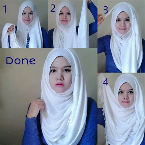 tutorial jilbab untuk pipi tembem contoh model hijab modern untuk wajah bulat