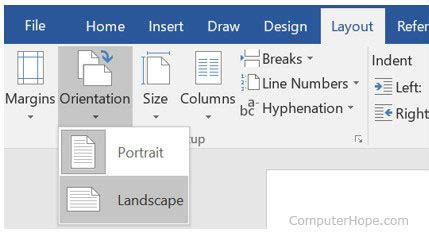 landscape layout microsoft word 2003 how to change my printer from portrait to landscape mode