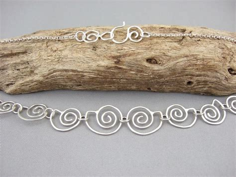 Spiral Silver Necklaces spiral seashell necklace the silver forge