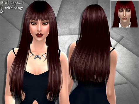 sims 4 long wavy hair without bangs sintikliasims sintiklia hairset 40 raphael