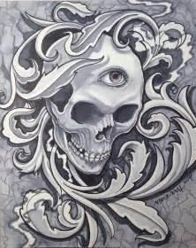skull filigree by vincewesttattoo on deviantart