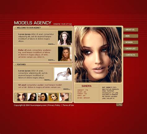 model portfolio template model portfolio flash template 7181