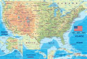 us physical features map printable usa map images