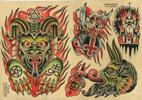 evil tattoo flash evil flash by vincent penning darko s oneness
