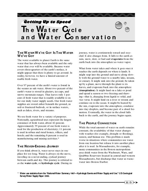Water Cycle Reading Comprehension Worksheet by Worksheets Water Conservation Worksheets Opossumsoft