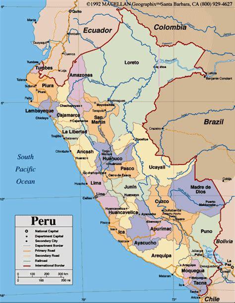 peru on the map maps of peru