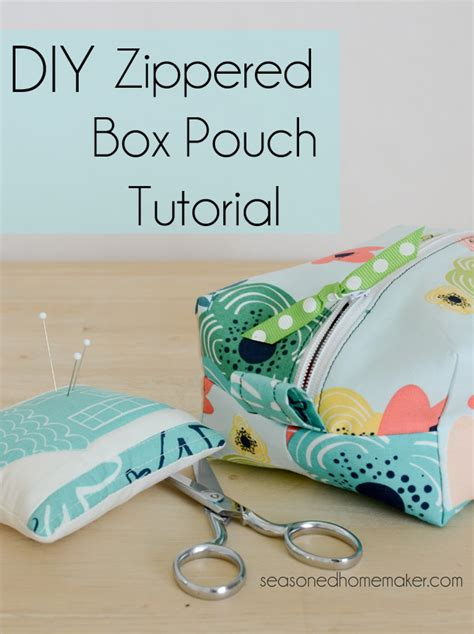 simple zippered pouch pattern diy zippered box pouch tutorial