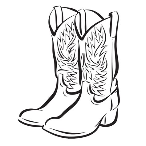 cowboy boot graphic cliparts co