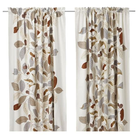 leaf curtains ikea ikea stockholm blad brown pair of curtains drapes 2 panels
