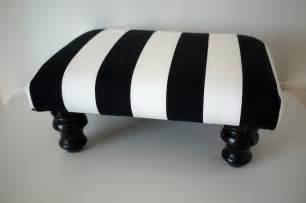 white footstools wide black and white striped footstool ottoman by mendetc
