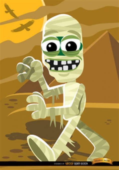 imagenes momias halloween momia de la historieta con la pir 225 mide de halloween vector