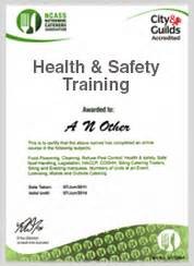 Health And Safety Certificate Template by Health Safety From Ncass