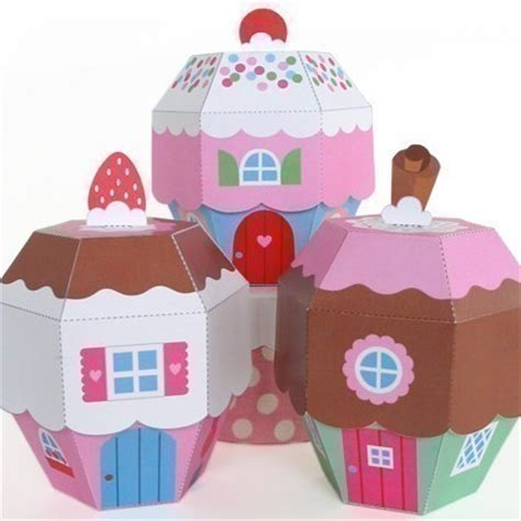 Paper Craft Boxes - cupcake cottage favor box printable paper craft