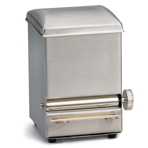 toothpick dispenser tablecraft 236 toothpick dispenser stainless